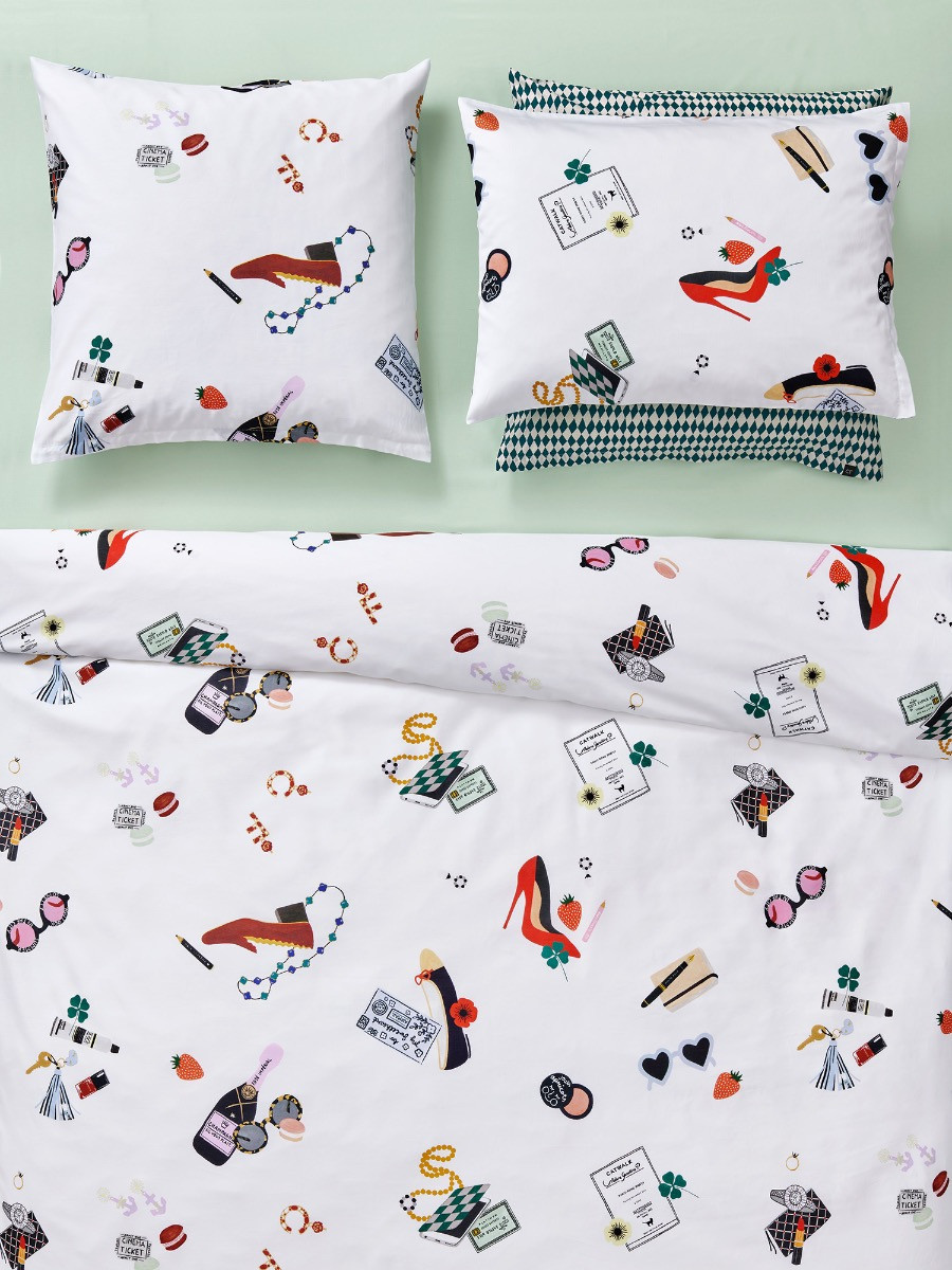 Full Size of Lustige Bettwäsche 155x220 Christian Fischbacher Catwalk Kollektion 2020 Textile Trume T Shirt Sprüche T Shirt Wohnzimmer Lustige Bettwäsche 155x220