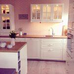 Landhausküche Tapete Weie Kchen Mit Holzarbeitsplatten Einrichtungsideen Küche Weiß Grau Fototapete Schlafzimmer Wohnzimmer Fototapeten Fenster Tapeten Wohnzimmer Landhausküche Tapete