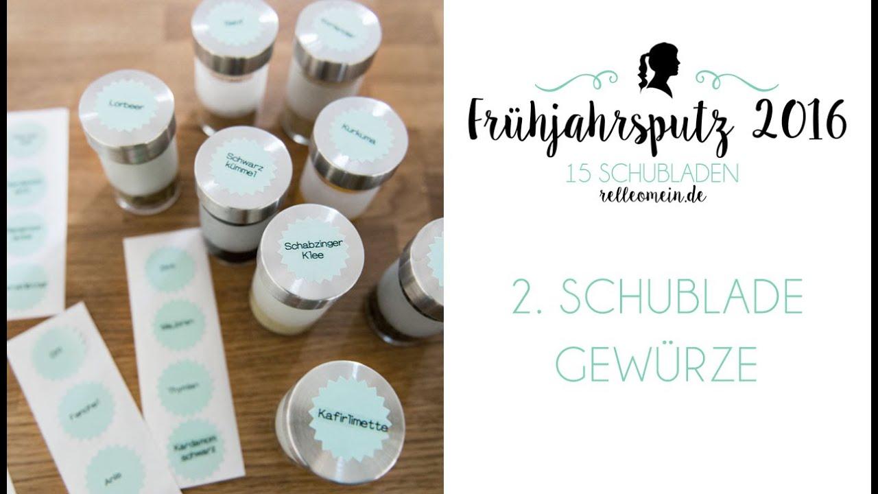 Full Size of Gewürze Schubladeneinsatz Frhjahrsputz 2016 Gewrze Aufbewahren 2 Schublade Youtube Küche Wohnzimmer Gewürze Schubladeneinsatz