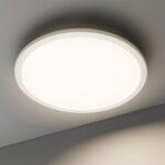 Deckenleuchte Led Colores Leuchten Lampen Spiegel Bad Deckenleuchten Schlafzimmer Küche Chesterfield Sofa Leder Kunstleder Weiß Braun Wohnzimmer Beleuchtung Wohnzimmer Deckenleuchte Led