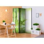 Paravent Bambus Wohnzimmer Paravent Bambus Raumteiler Queen Mit Motiv In Grn 3 Teilig Bett Garten