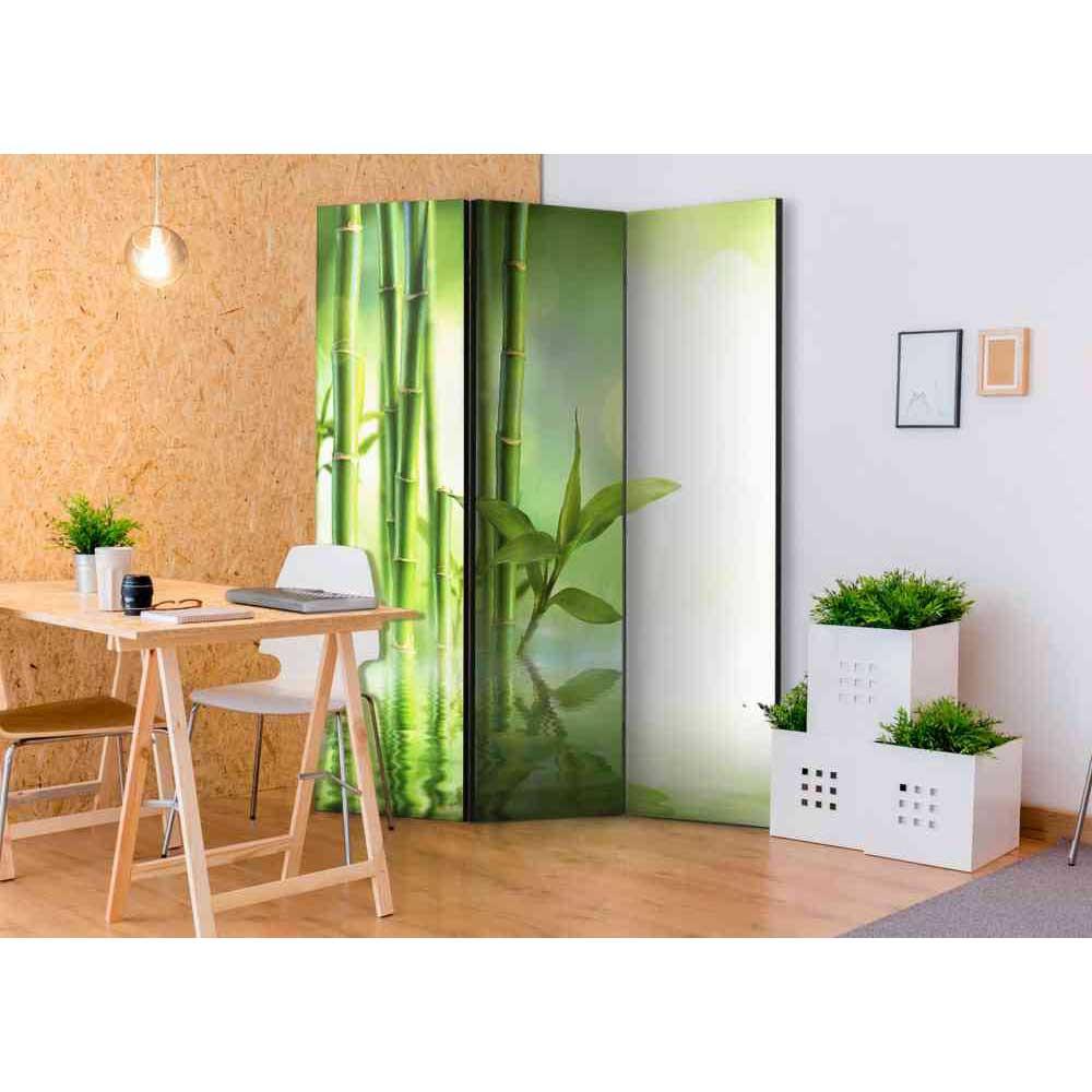 Full Size of Paravent Bambus Raumteiler Queen Mit Motiv In Grn 3 Teilig Bett Garten Wohnzimmer Paravent Bambus