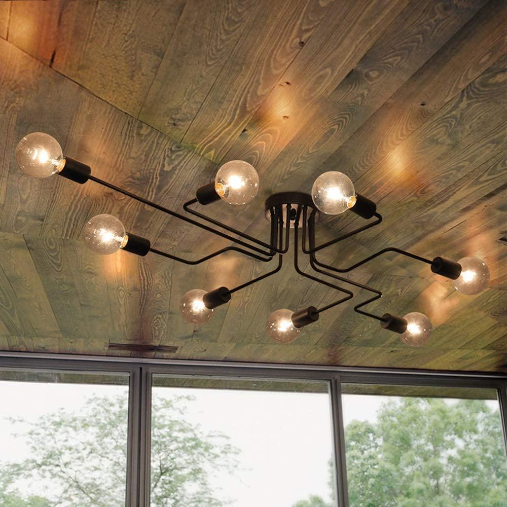 Full Size of Oyipro Deckenleuchte 8 Flammig Deckenlampe Kronleuchter Wohnzimmer Deckenlampen Bad Schlafzimmer Küche Industrial Esstisch Modern Wohnzimmer Deckenlampe Industrial