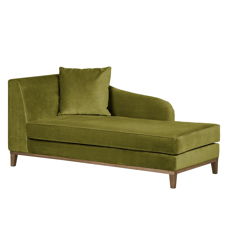 Full Size of Recamiere Blomma Samtstoff Olivgrn Armlehne Davorstehend Sofa Samt Mit Wohnzimmer Recamiere Samt