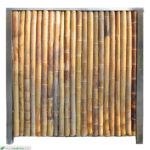 Bambus Paravent Garten Wohnzimmer Bambuswand Anfangswand Bambus In Edelstahl Eingefasst Garten Schaukelstuhl Sichtschutz Klappstuhl Im Rattan Sofa Spielgeräte Kinderspielturm Kräutergarten