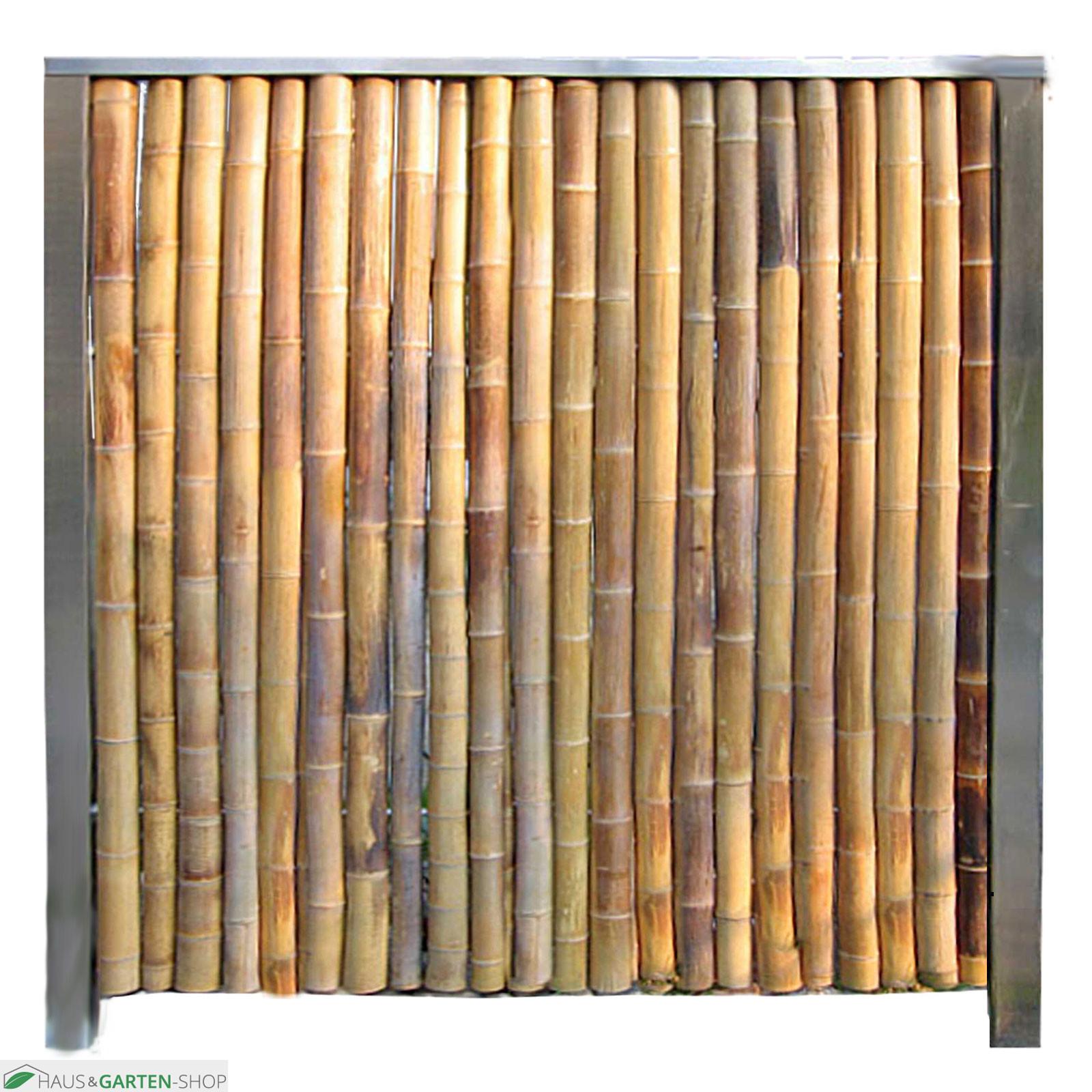 Full Size of Bambuswand Anfangswand Bambus In Edelstahl Eingefasst Garten Schaukelstuhl Sichtschutz Klappstuhl Im Rattan Sofa Spielgeräte Kinderspielturm Kräutergarten Wohnzimmer Bambus Paravent Garten