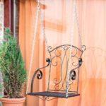 Dandibo Hngesessel Braun Metall Relaschaukel Mit Ketten Bett Regal Weiß Regale Wohnzimmer Gartenschaukel Metall