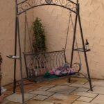 Gartenschaukel Metall Landhaus Eisen Schmiedeeisen Hollywood Garten Schaukel Romantico Bett Regale Regal Weiß Wohnzimmer Gartenschaukel Metall