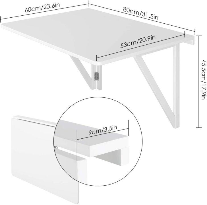 Medium Size of Homfa Wandtisch Klappbar 80x60cm Wei Mit 2 Halterungen Klapptisch Küche Garten Wohnzimmer Wand:ylp2gzuwkdi= Klapptisch