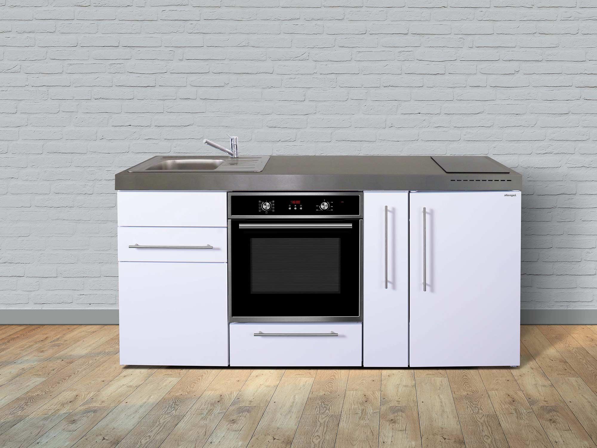 Full Size of Miniküchen Stengel Minikche Mpb 180 A Mit Backofen Und Apothekerschrank Wohnzimmer Miniküchen
