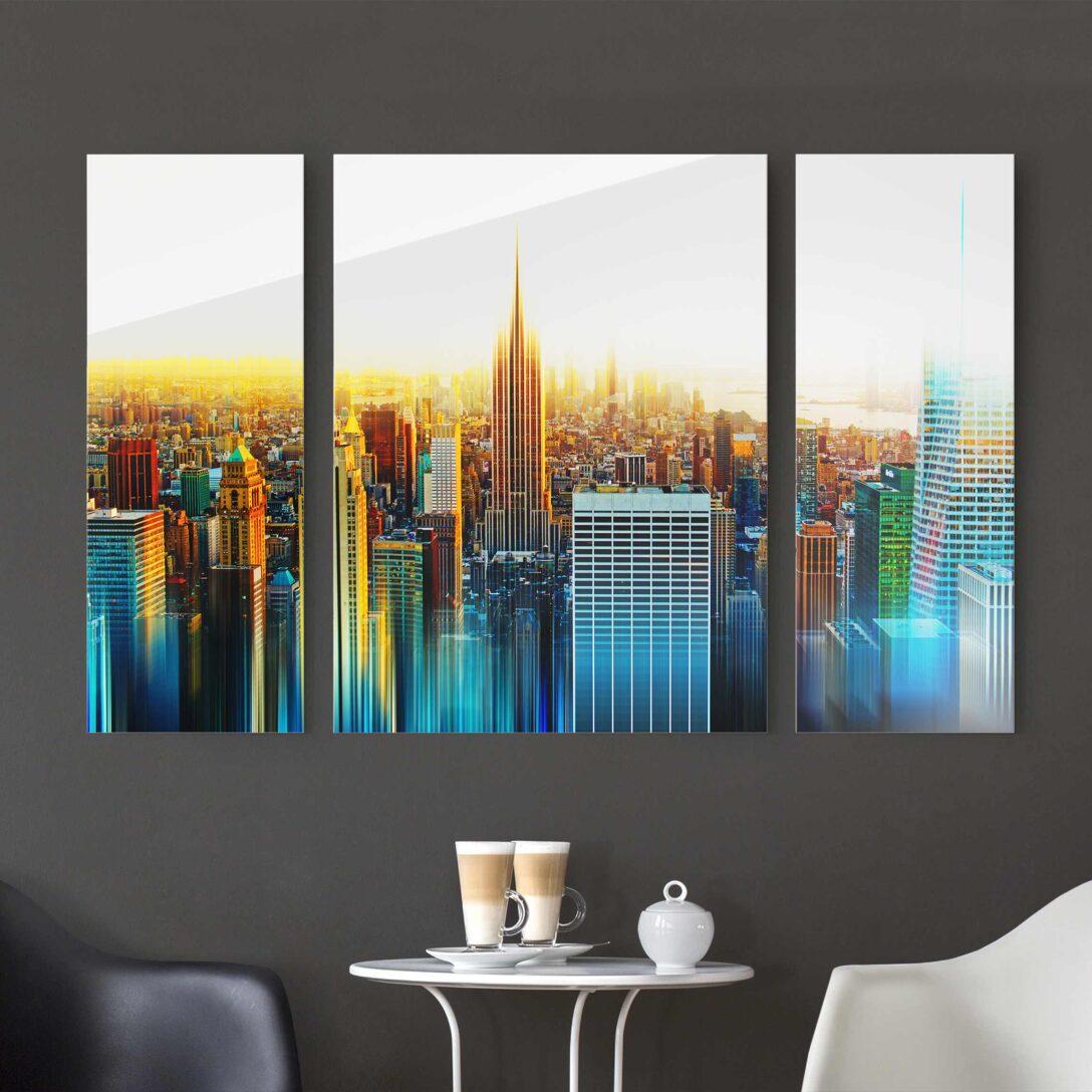 Large Size of Bilder 3 Teilig Abstrakt Glasbilder Küche Bad Wohnzimmer Glasbild 120x50