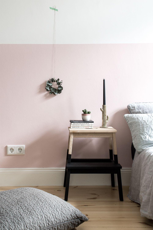 Full Size of Eine Rosa Wand Fr Das Schlafzimmer Neue Bettwsche Aus Leinen Küche Wohnzimmer Wandfarbe Rosa