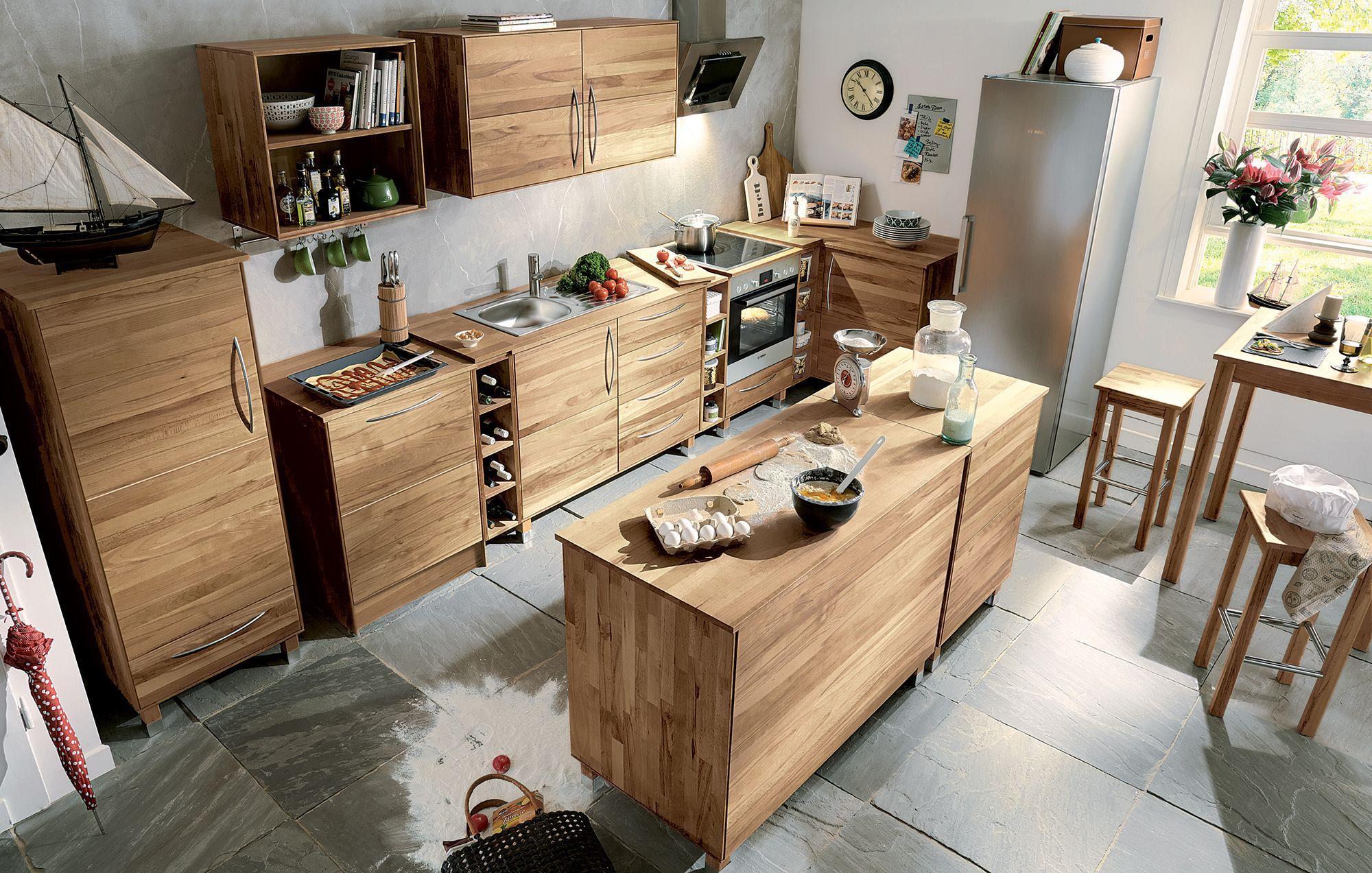 Full Size of Modulküche Holz Unsere Massivholz Modulkche Culinara Ist Nun Auch In Eiche Esstisch Holzplatte Schlafzimmer Garten Spielhaus Ikea Regale Alu Fenster Wohnzimmer Modulküche Holz