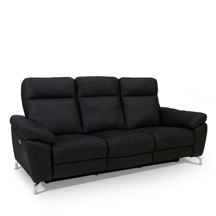 Medium Size of Sofa Mit Relaxfunktion 3er Emonila In Schwarz Pharao24de Big Sam Jugendzimmer Xora Bett Wohnzimmer Xora Jugendzimmer