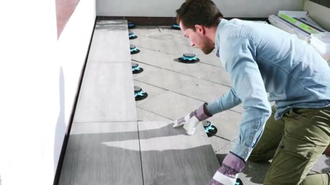 Large Size of Bodenfliesen Bauhaus Terrassenfliesen Ganz Einfach Verlegen Mit Stelzlagern Fenster Bad Küche Wohnzimmer Bodenfliesen Bauhaus