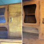 Holzküche Auffrischen Kchenschrank Einfach Selbst Restauriert Youtube Vollholzküche Massivholzküche Wohnzimmer Holzküche Auffrischen