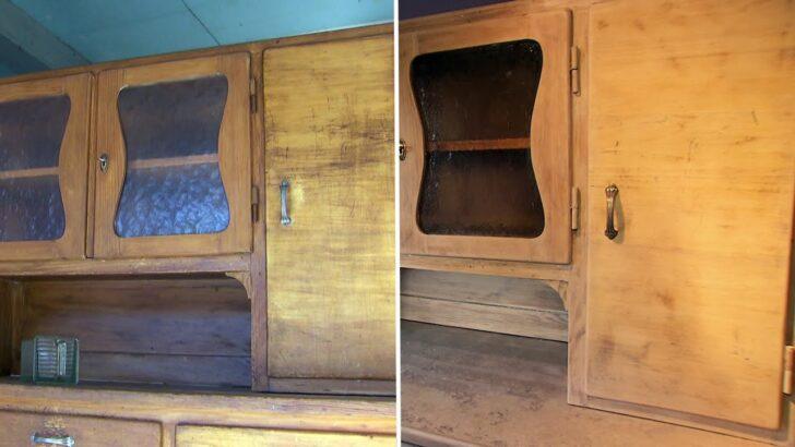 Medium Size of Holzküche Auffrischen Kchenschrank Einfach Selbst Restauriert Youtube Vollholzküche Massivholzküche Wohnzimmer Holzküche Auffrischen