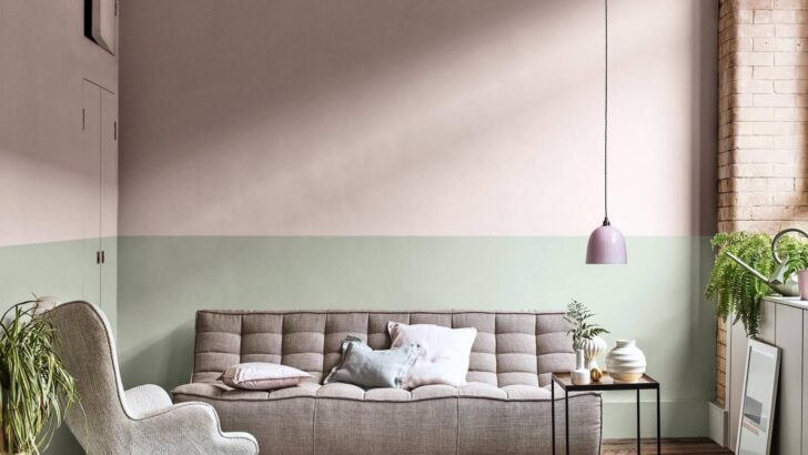 Medium Size of Decke Gestalten Sie Eine Stylische Zweifarbige Wand Dulux Wohnzimmer Deckenleuchten Schlafzimmer Deckenlampe Badezimmer Deckenleuchte Led Küche Bad Wohnzimmer Decke Gestalten