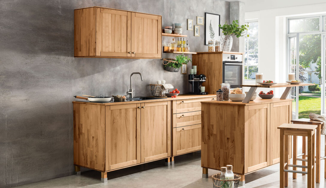 Large Size of Küchenmöbel Kchen Aus Massivholz Wohnzimmer Küchenmöbel