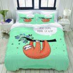 Bettwäsche Lustig Wohnzimmer Zoanen Bettwsche Bettwscheset Se Handgezeichnete Faultiere Lustige T Shirt Sprüche T Shirt Bettwäsche