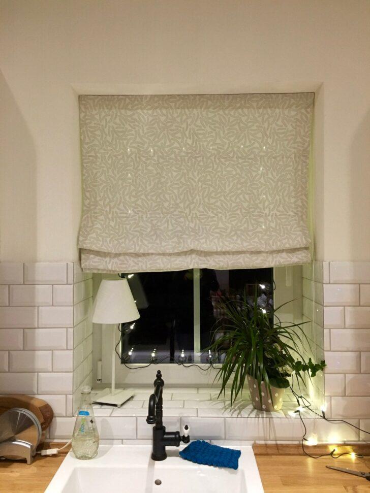 Medium Size of Raffrollo Küchenfenster Fr Kche Kunterkatha Küche Wohnzimmer Raffrollo Küchenfenster