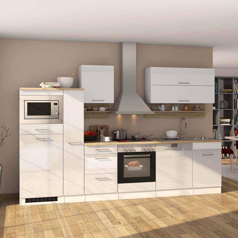 Full Size of Küchenmöbel Kchenmbel Einrichtung Set Piemonta In Wei Hochglanz Mit Gerten Wohnzimmer Küchenmöbel