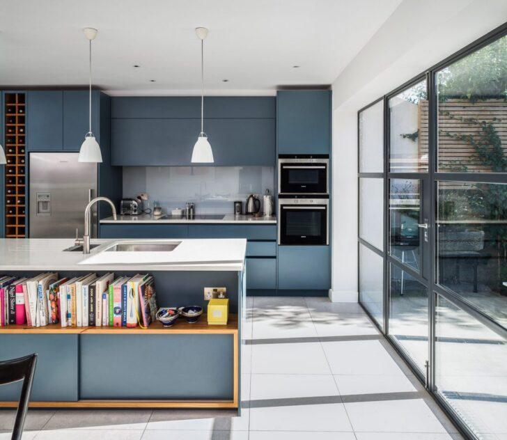 Medium Size of Einfach Mal Blau Machen In Der Kche Kchendesignmagazin Holzküche Massivholzküche Vollholzküche Wohnzimmer Holzküche Auffrischen