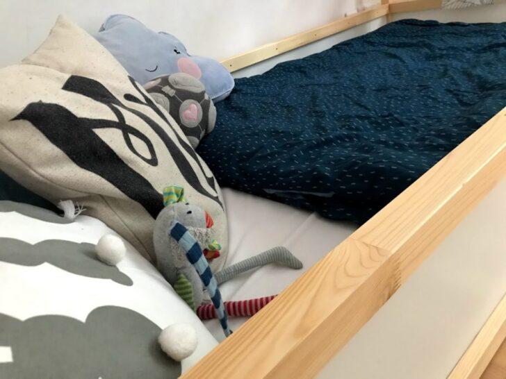 Medium Size of Kinderbett Diy Hausbett Mit Rausfallschutz Ikea Kura Hack Wohnzimmer Kinderbett Diy
