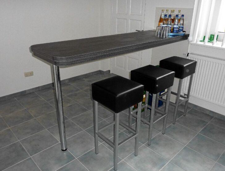 Medium Size of Küchen Bartisch Kche Mit Barcharakter Bildern Schmaler Tisch Regal Küche Wohnzimmer Küchen Bartisch