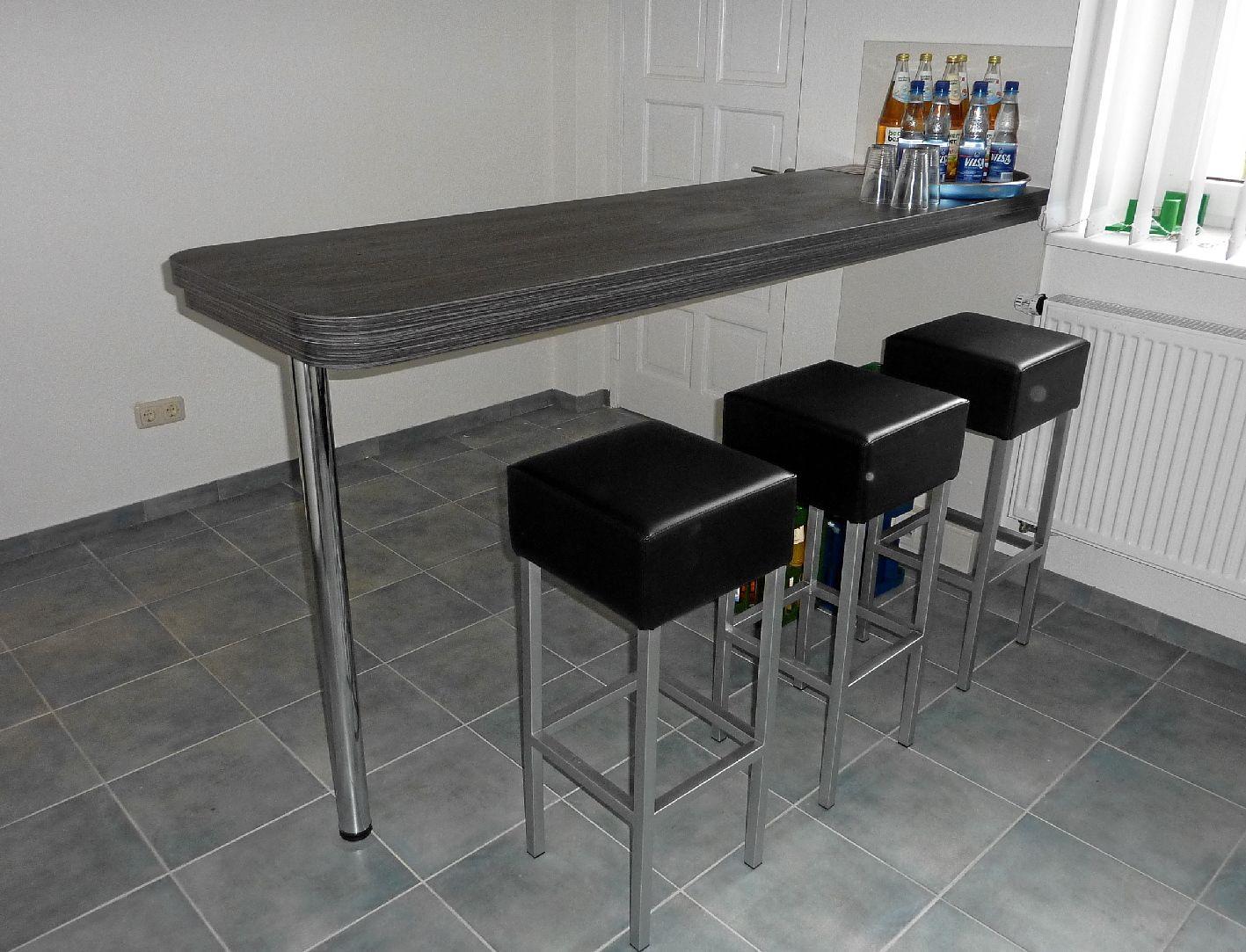 Full Size of Küchen Bartisch Kche Mit Barcharakter Bildern Schmaler Tisch Regal Küche Wohnzimmer Küchen Bartisch