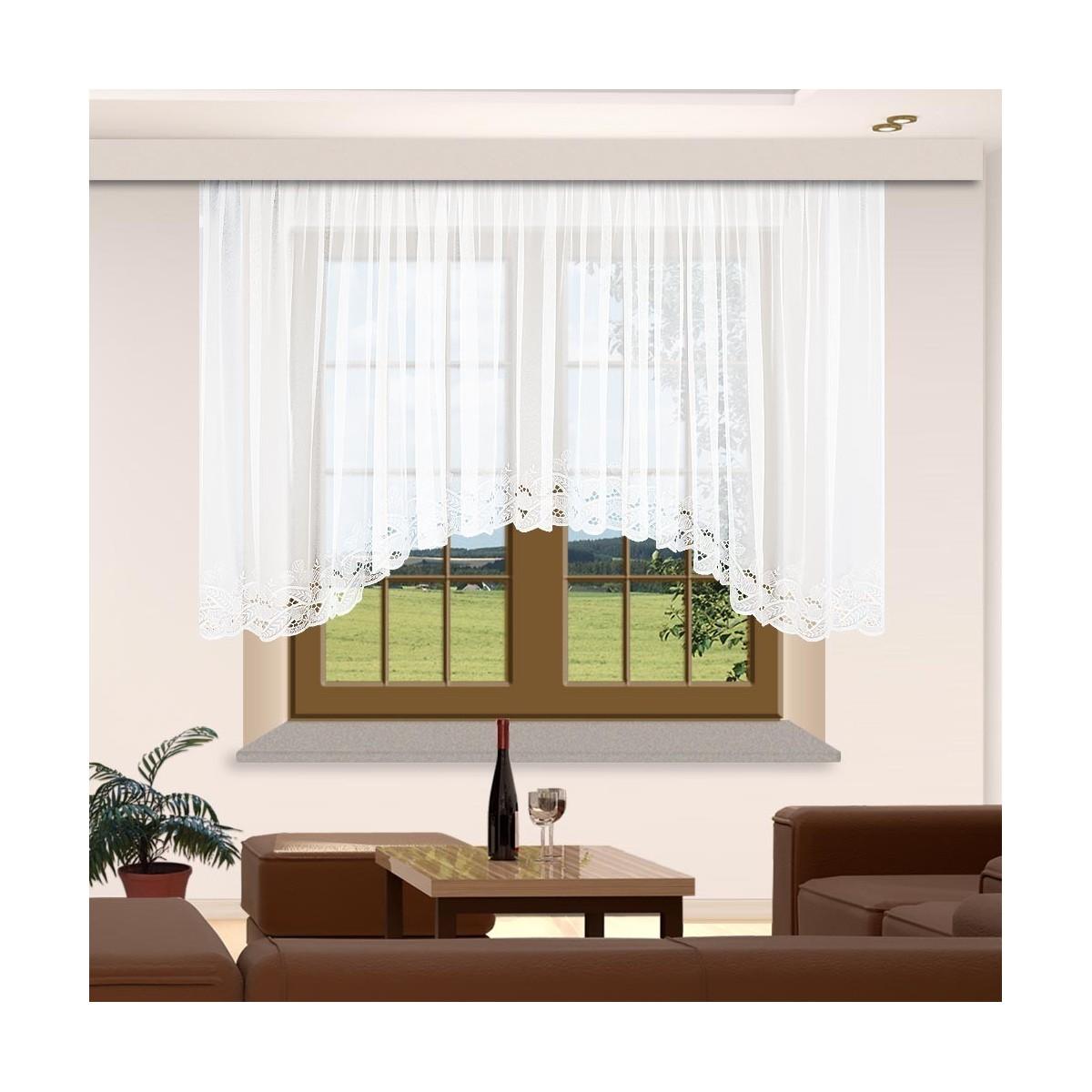 Full Size of Gardinen Stores Spitzen Bogenstore Emilia Wei Für Die Küche Wohnzimmer Bogenlampe Esstisch Scheibengardinen Schlafzimmer Fenster Wohnzimmer Bogen Gardinen