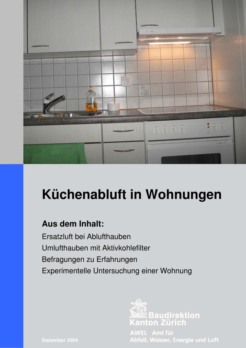 Full Size of Küchenabluft Pdf Kchenabluft In Wohnungen Wohnzimmer Küchenabluft