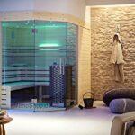 Außensauna Wandaufbau Wohnzimmer Lauraline Design Sauna Luna Wellness