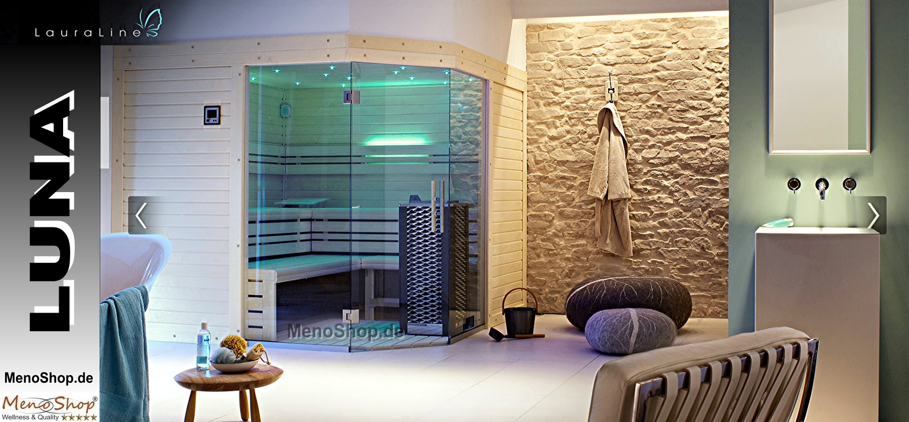 Full Size of Lauraline Design Sauna Luna Wellness Wohnzimmer Außensauna Wandaufbau