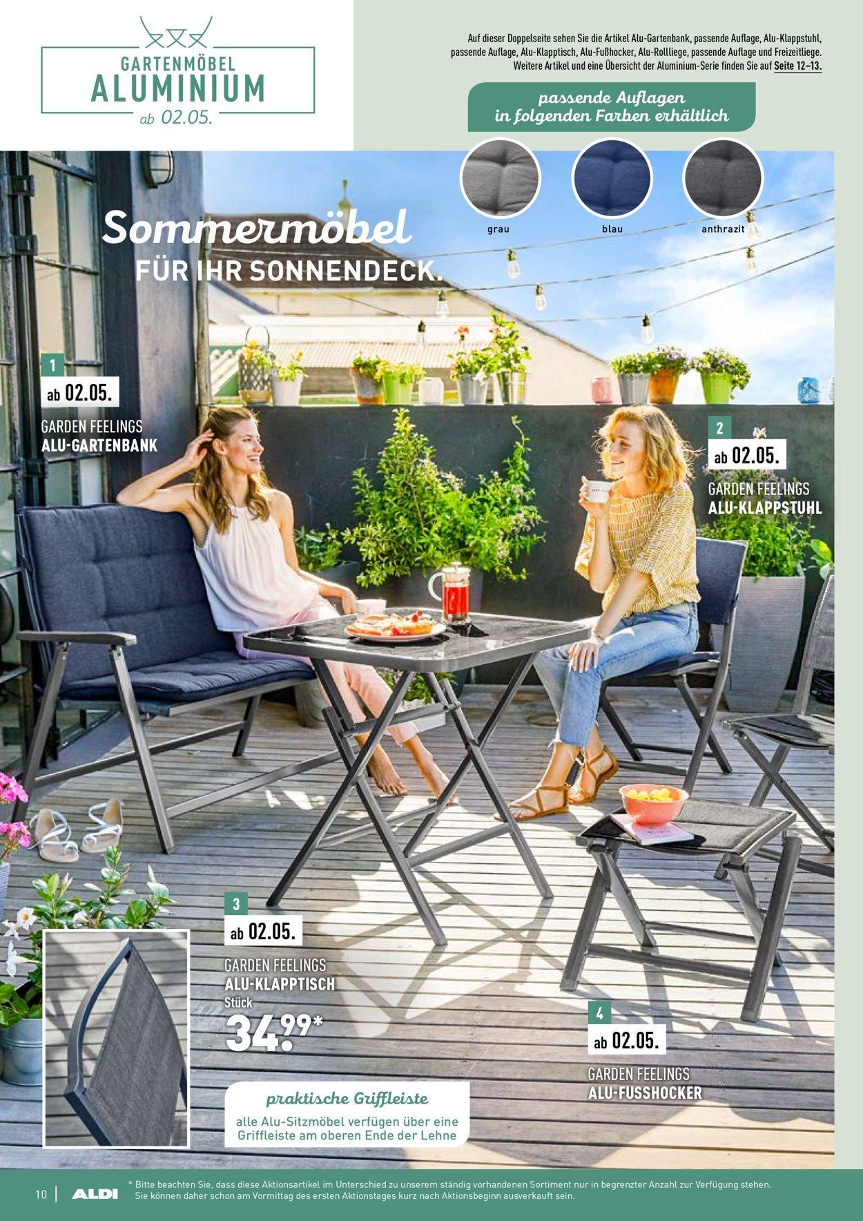 Full Size of Aldi Nord Aktueller Prospekt 2103 23052019 10 Jedewoche Relaxsessel Garten Wohnzimmer Aldi Gartenbank