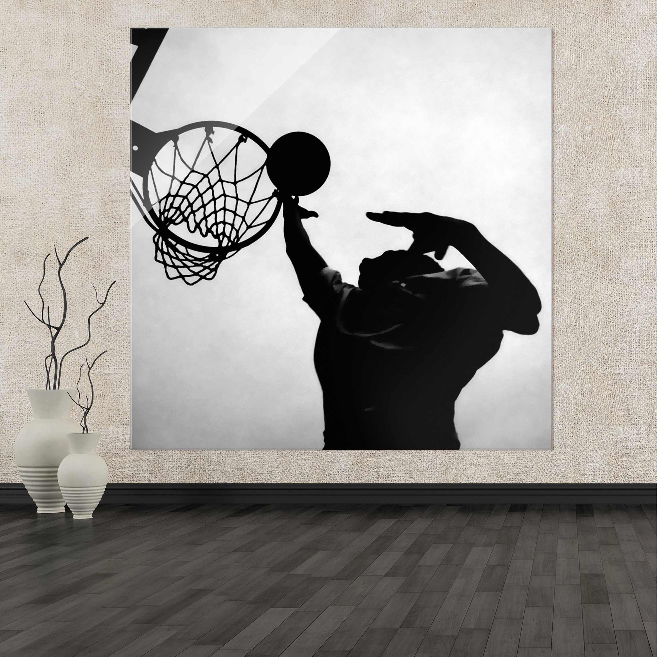 Full Size of Glasbild 120x50 Basketball Schwarz Wei Glasbilder Küche Bad Wohnzimmer Glasbild 120x50