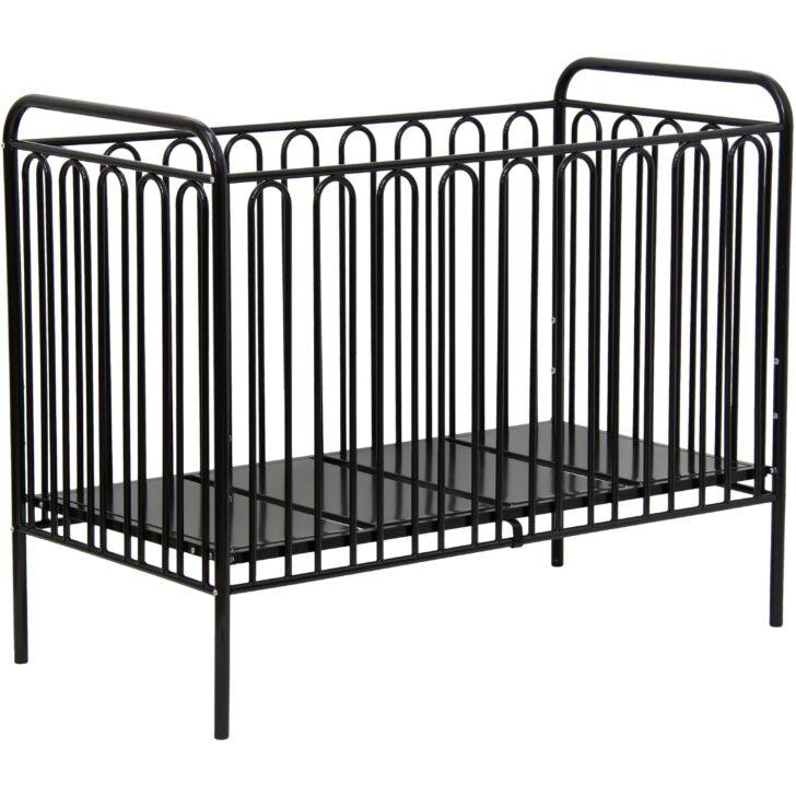 Medium Size of Babybett Schwarz Kinderbett Gitterbett Aus Metall Polini 150 Bett 180x200 Weiß Schwarze Küche Schwarzes Wohnzimmer Babybett Schwarz
