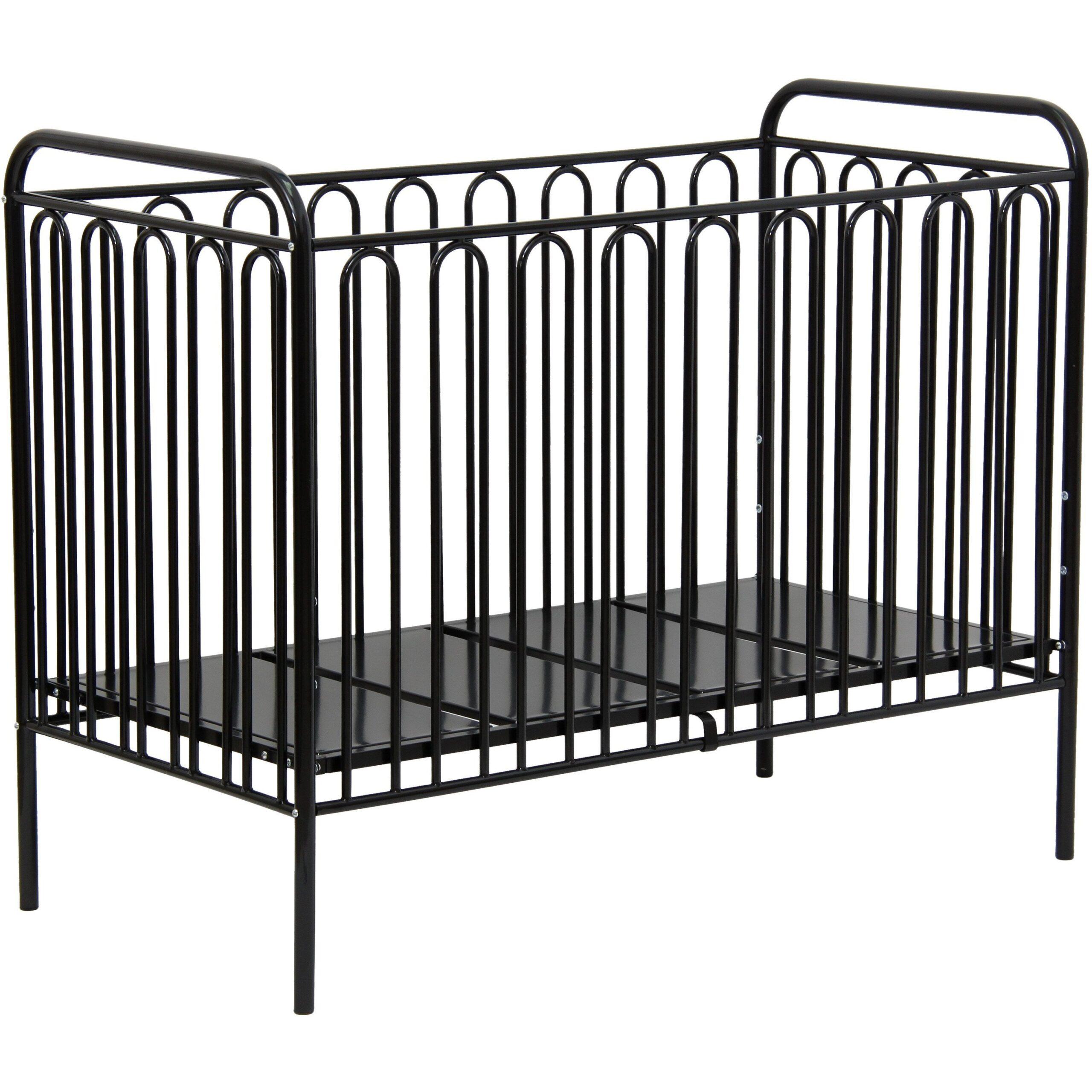 Full Size of Babybett Schwarz Kinderbett Gitterbett Aus Metall Polini 150 Bett 180x200 Weiß Schwarze Küche Schwarzes Wohnzimmer Babybett Schwarz