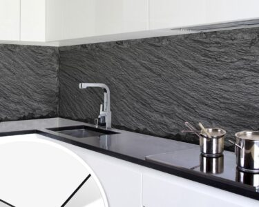 Küchen Fliesenspiegel Wohnzimmer Kchenrckwand Alu Dibond Schiefer Design 02 Fliesenspiegel Küche Selber Machen Küchen Regal Glas