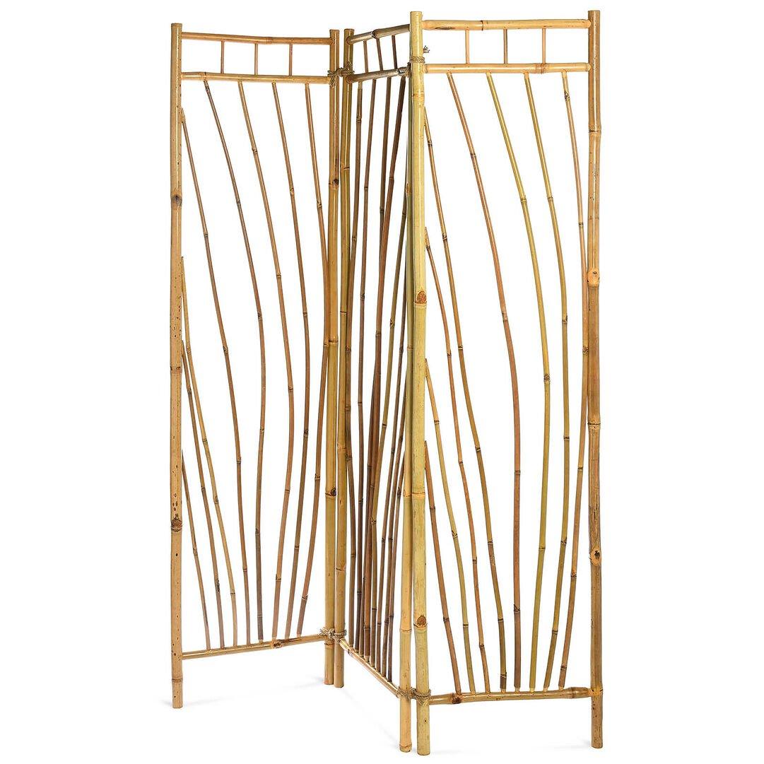 Paravent Bambus Balkon Outdoor B135xh175cm Garten Bett