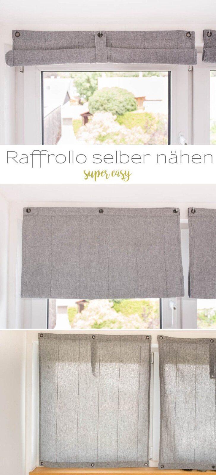 Medium Size of Raffrollo Küchenfenster Diy Einfache Raffrollos Selber Nhen Küche Wohnzimmer Raffrollo Küchenfenster