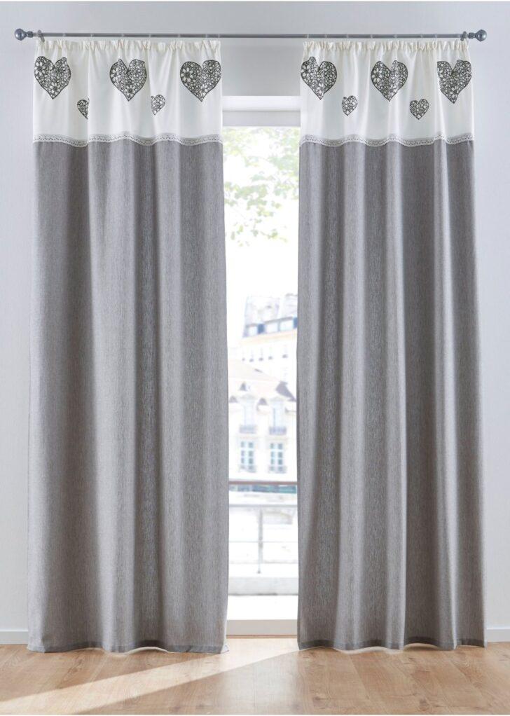 Medium Size of Bon Prix Vorhänge Vorhang Im Landhaus Stil Trendigen Grau Wei Wohnzimmer Schlafzimmer Küche Bonprix Betten Wohnzimmer Bon Prix Vorhänge