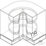 Nolte Kchen Eckschrank Uek90 Gnstig Kaufen Wohnzimmer Küchenkarussell