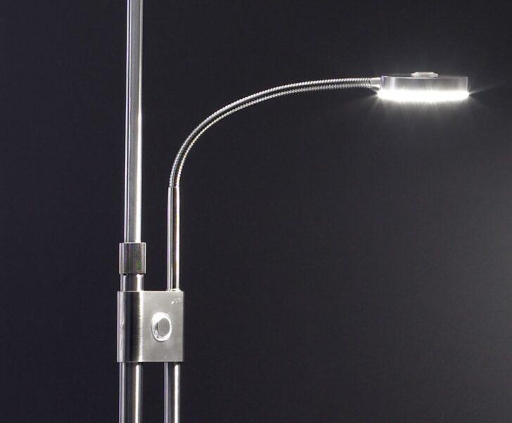 Medium Size of Stehlampe Led Dimmbar Deckenfluter Mit Leseleuchte Beleuchtung Wohnzimmer Einbauleuchten Bad Deckenleuchte Stehlampen Lampen Echtleder Sofa Kunstleder Leder Wohnzimmer Stehlampe Led Dimmbar