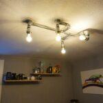 Design Deckenlampe Aus Rohren Industrial Lighting Mihu Deckenlampen Wohnzimmer Modern Für Schlafzimmer Küche Bad Esstisch Wohnzimmer Deckenlampe Industrial