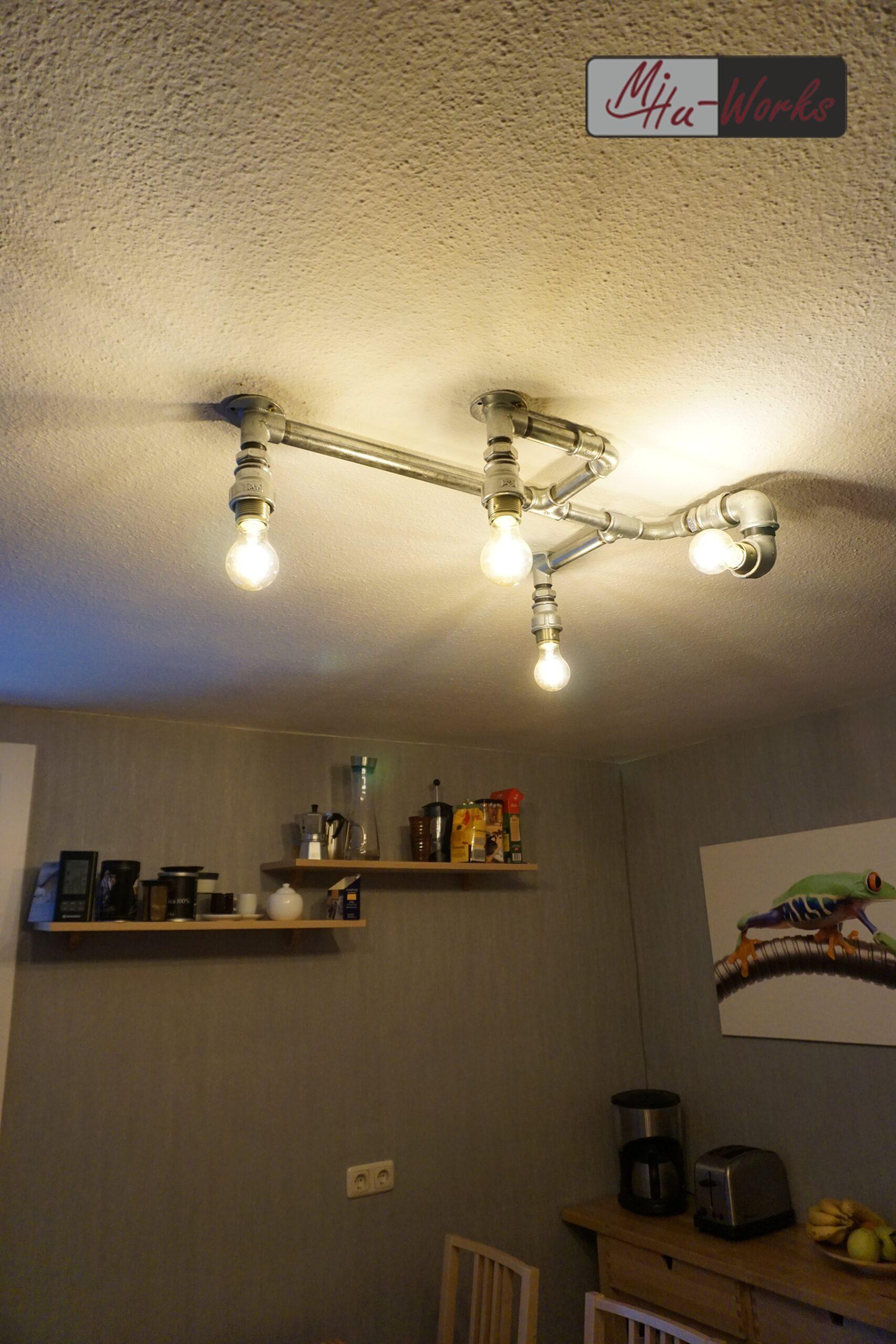 Full Size of Design Deckenlampe Aus Rohren Industrial Lighting Mihu Deckenlampen Wohnzimmer Modern Für Schlafzimmer Küche Bad Esstisch Wohnzimmer Deckenlampe Industrial