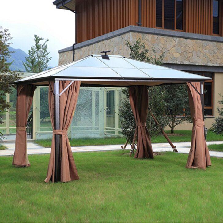 Medium Size of Terrassen Pavillon 10x12ft Outdoor Hardtop Baldachin Vorhnge Aluminium Garten Wohnzimmer Terrassen Pavillon