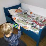 Kinderbett Diy Obi Haus Baldachin Anleitung Rausfallschutz Nachhaltigkeit Aufgembelt Wohnzimmer Kinderbett Diy