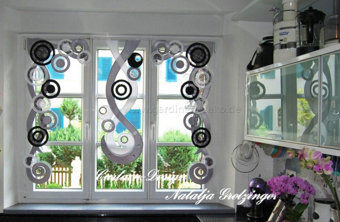 Large Size of Kchengardinen Modern Gardine Schlaufenschal Wei Blau Gnstig Moderne Duschen Bilder Fürs Wohnzimmer Küche Holz Modernes Bett 180x200 Deckenlampen Weiss Wohnzimmer Küchengardinen Modern Küchengardinen