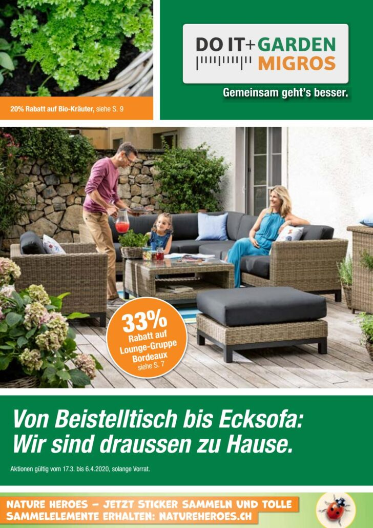 Medium Size of Garten Ecksofa Set Memphis Do It Garden Aktionsflyer Kw12 De By Migros Wohnzimmer Garten Ecksofa Set Memphis